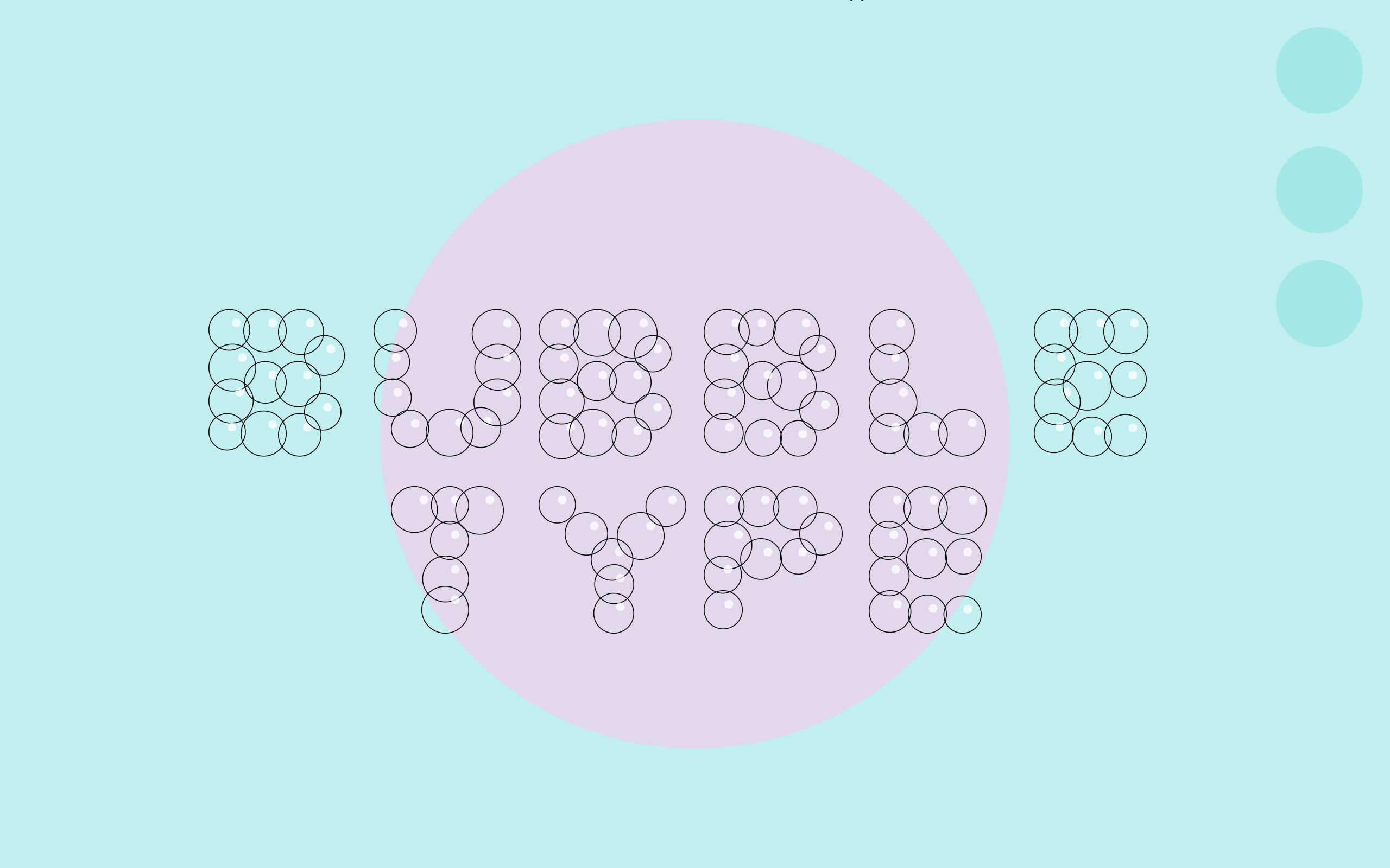 Bubble Type (Stroke) on pink and light blue background