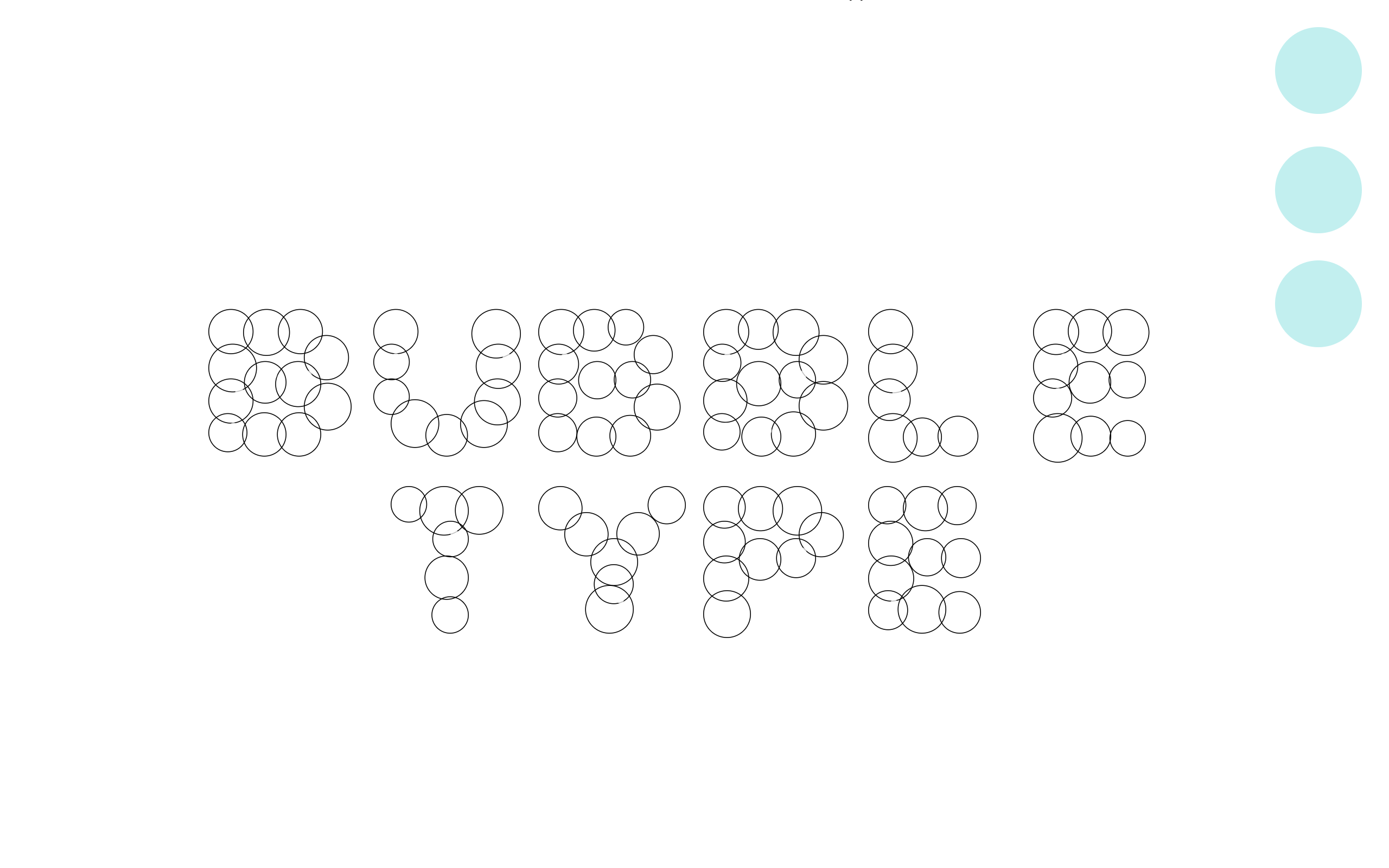 Bubble Type on all white background